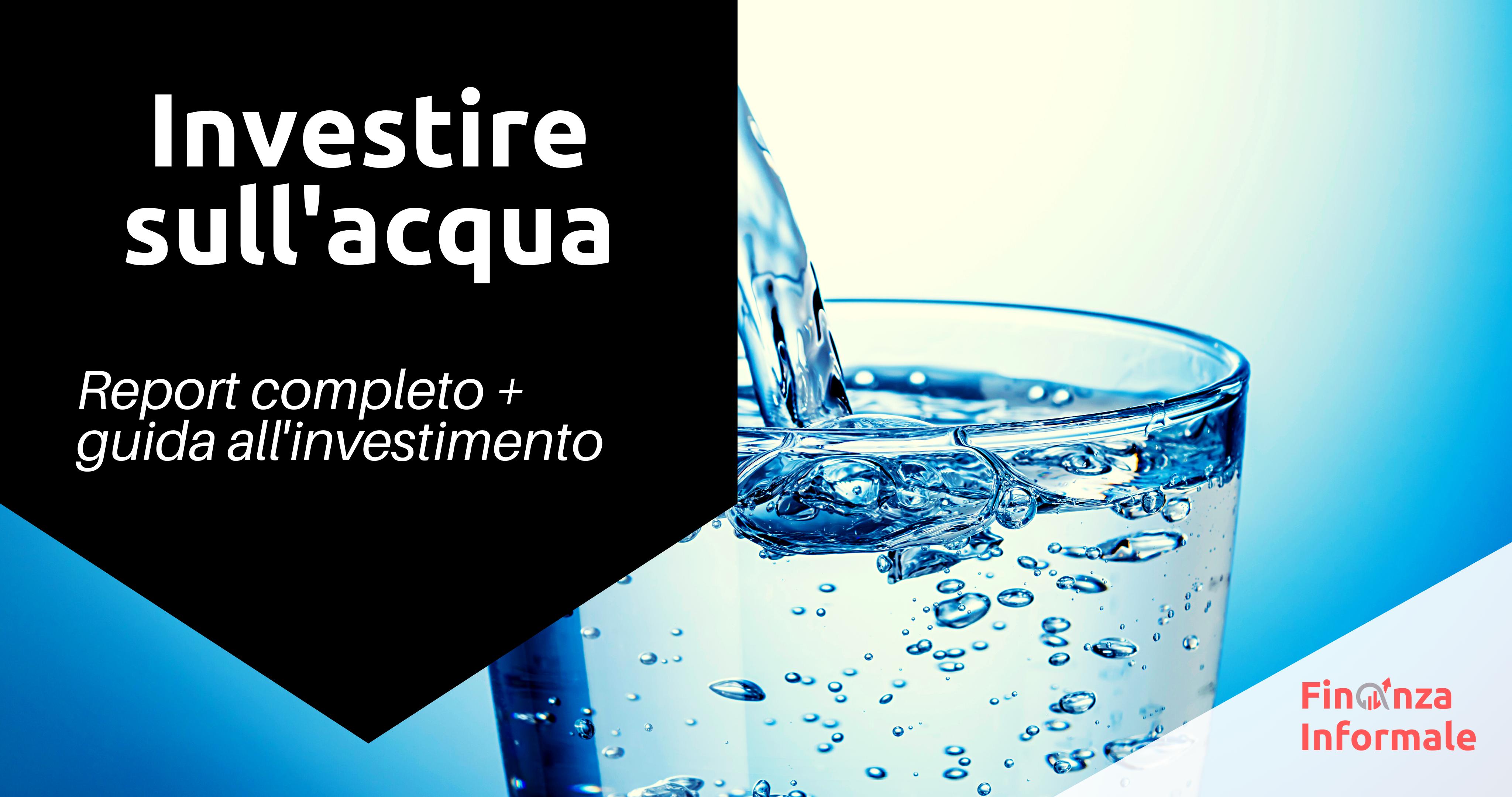investire nell acqua cover