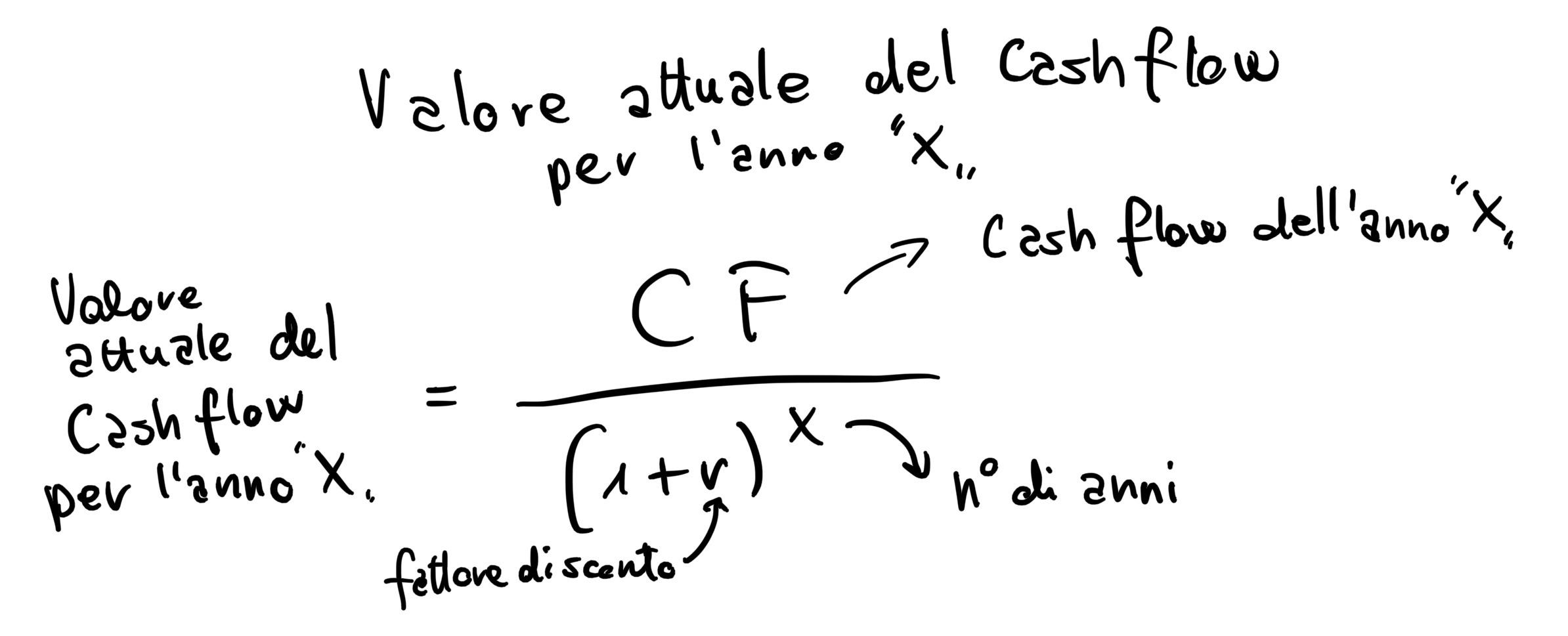 valore attuale cash flow